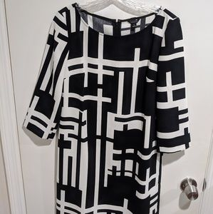 NWT!! Black & White Dress